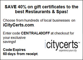 iCityCerts Coupon NYC Restaurant Coupon