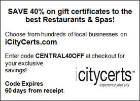 iCityCerts Coupon NYC Restaurant Coupon